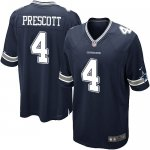 Men's Nike Dallas Cowboys #4 Dak Prescott Game Navy Blue Team Color NFL Jersey