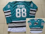 nhl san jose sharks #88 brent burns teal 25th anniversary jersey