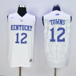 nike kentucky wildcats #12 towns white jerseys