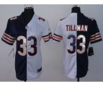 nike women nfl chicago bears #33 tillman white-blue [Elite split