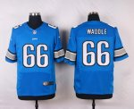 nike detroit lions #66 waddle elite blue jerseys
