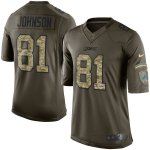 nike detroit lions #81 johnson army green salute to service limi