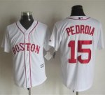 mlb jerseys boston red sox #15 Pedroia White Alternate Home New