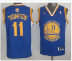 youth nba golden state warriors #11 klay thompson blue swingman jerseys