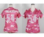 nike women nfl chicago bears #54 urlacher pink [fashion camo]