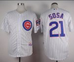 mlb jerseys Chicago Cubs #21 Sosa White Home Cool Base Stitched