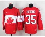 nhl team canada #35 peters red [2014 world championship]