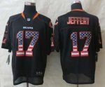 nike nfl chicago bears #17 jeffery black [Elite USA flag fashion