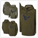 Football Houston Texans Olive Salute to Service Sideline Therma Performance Pullover Hoodie