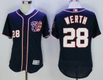 mlb washington nationals #28 jayson werth majestic blue flexbase authentic collection player jerseys