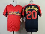 mlb oakland athletics #20 donaldson red-blue [2014 all star jers