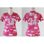 nike women nfl chicago bears #34 payton pink [fashion camo]