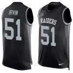 Men's Nike Oakland Raiders #51 Bruce Irvin Limited Black Player Name & Number Tank