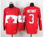 nhl team canada #3 methot red [2014 world championship]
