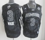 2013 nba all star miami heat #3 dwyane wade black jerseys