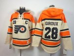 nhl philadelphia flyers #28 giroux orange-cream [pullover hooded
