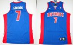 nba detroit pistons #7 gordon blue cheap jerseys (fans edition)