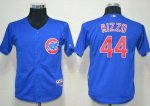 youth mlb chicago cubs #44 anthony rizzo blue cool base jerseys