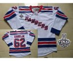 nhl new york rangers #62 hagelin white [2014 stanley cup]