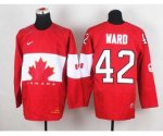 nhl team canada #42 ward red [2014 world championship]