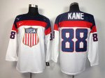 nhl team usa olympic #88 kane white jerseys [2014 winter olympic