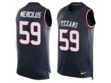 Men's Nike Houston Texans #59 Whitney Mercilus Navy Blue Team Color Stitched NFL Limited Tank Top Jersey
