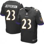 Men's NFL Baltimore Ravens #23 Tony Jefferson Nike Black Stitched Elite Jerseys
