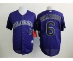 mlb jerseys colorado rockies #6 dickerson blue