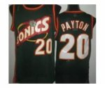 nba seattle supersonics #20 payton green [revolution 30 throwbac
