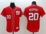 mlb washington nationals #20 daniel murphy majestic red flexbase authentic collection player jerseys