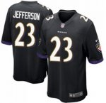 Youth NFL Baltimore Ravens #23 Tony Jefferson Nike Black Stitched Game Jerseys