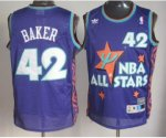 nba 95 all star #42 baker jerseys purple