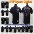 Baseball New York Yankees All Players Option #99 Aaron Judge #27 Giancarlo Stanton Fashion Black Flex Base Jersey and Cool Base Jersey