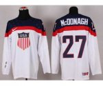 nhl team usa olympic #27 mcdonagh white jerseys [2014 winter oly