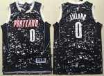 Men's NBA Portland Trail Blazers #0 Damian Lillard Swingman Black City Light Jersey