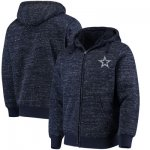 Football Dallas Cowboys G III Sports By Carl Banks Discovery Sherpa Full Zip Jacket Heathered Navy