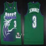 nba milwaukee bucks #3 brandon jennings green Throwback [revolut