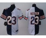 nike women nfl chicago bears #23 hester white-blue [Elite split]