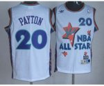 nba 95 all star #20 payton white jerseys