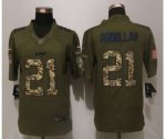 nike detroit lions #21 abdullah army green salute to service lim