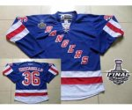 nhl new york rangers #36 zuccarello blue [2014 stanley cup]