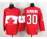 nhl team canada #30 scrivens red [2014 world championship][scriv