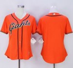 women mlb san francisco giants blank majestic orange new cool base jerseys