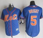 mlb jerseys new york mets #5 Wright Blue Alternate Home New Coo
