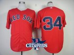 2013 world series champions mlb boston red sox #34 ortiz red jer