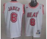 nba miami heat #6 james white jerseys [m&n]