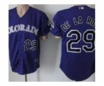 mlb colorado rockies #29 de la rosa purple jerseys
