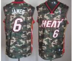 nba miami heat #6 james camo jerseys