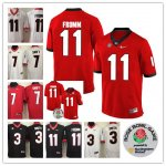Georgia Bulldogs #11 Jake Fromm #3 Roquan Smith #7 D'Andre Swift All Players Stitched College Football Jerseys