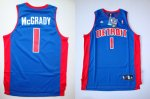 nba detroit pistons #1 mcgrady blue [swingman] cheap jerseys